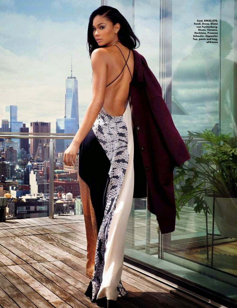 Chanel Iman for ELLE Magazine, Malaysia, July 2014