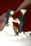 Casamento. Topo de bolo.