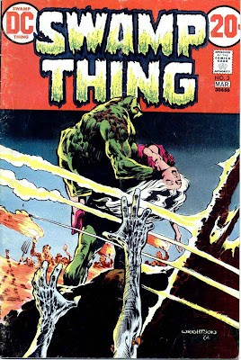 Swamp Thing v1 #3 1970s bronze age dc comic book cover art by Bernie Wrightson