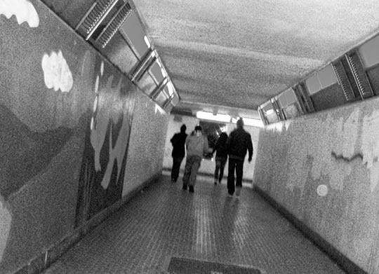 subway, urban photography, contemporary, black and white, photo