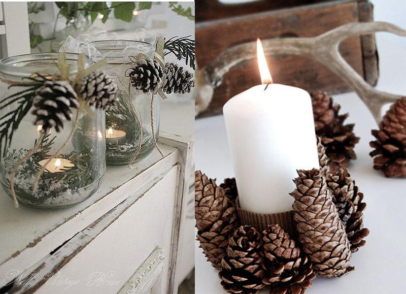 Inspiracion decoracion en navidad con pi as naturales mi - Adornos de navidad con pinas ...