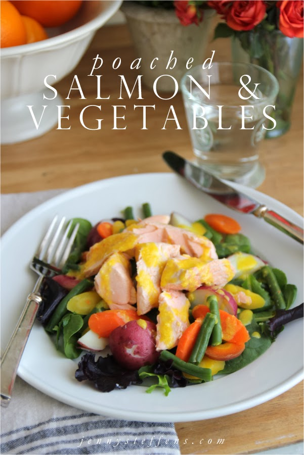 ... Steffens Hobick: Poached Salmon & Vegetables with a Lemon Garlic Aioli