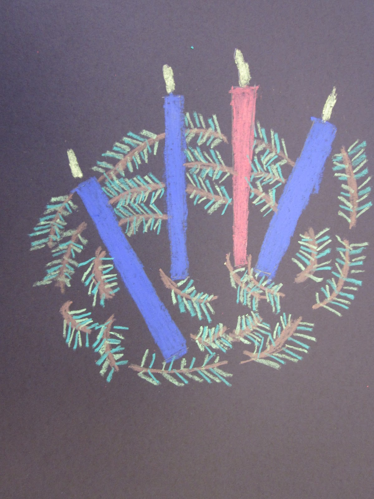 how to make an advent wreath out of paper