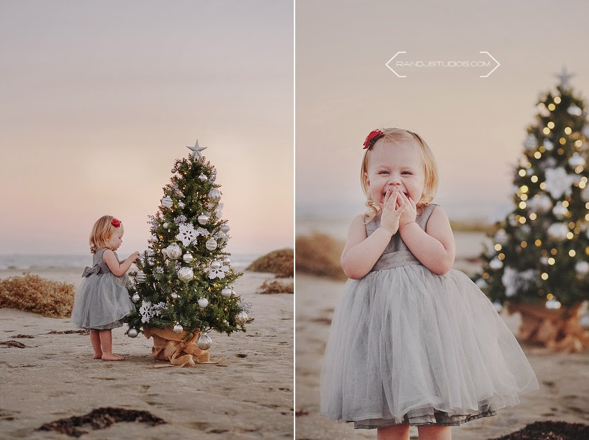 Christmas photos on the beach in Galveston Texas