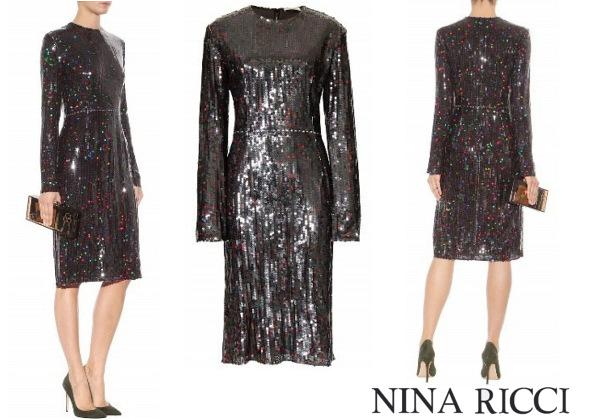 Queen Maxima's NINA RICCI Sequinned Dress