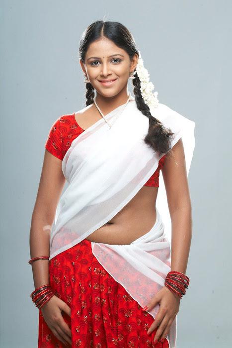 subhiksha spicy in saree