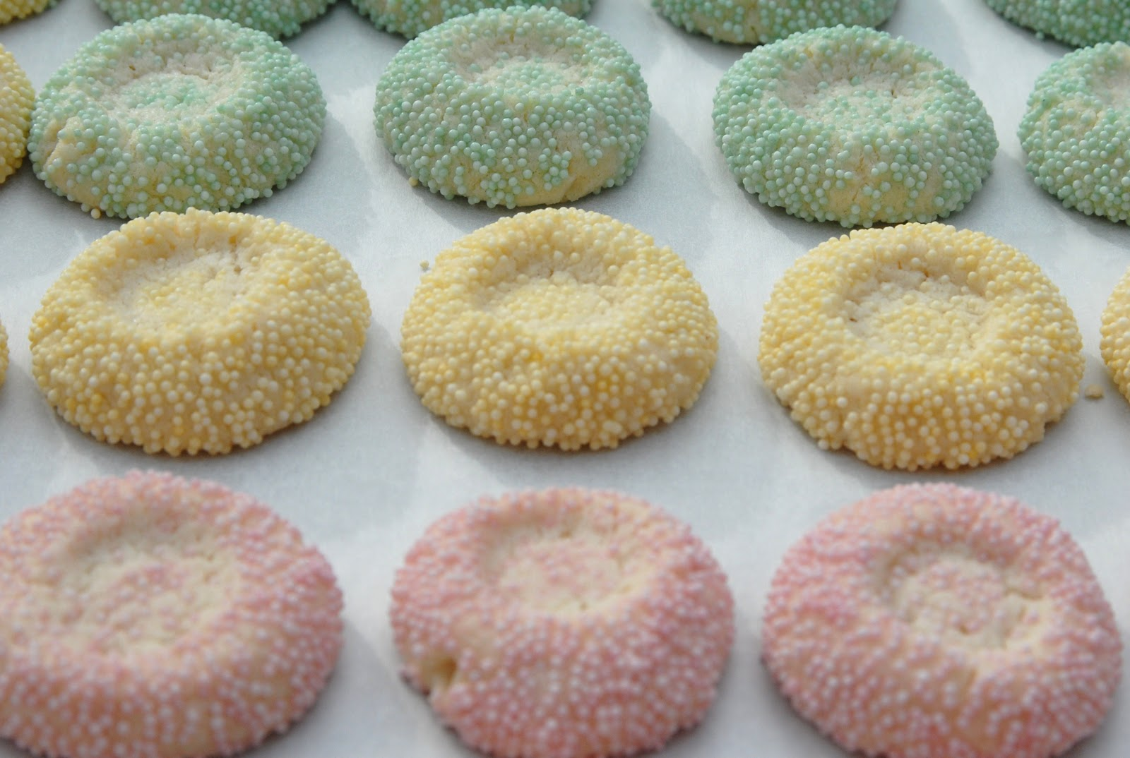 ... Piccadilly Pastries: Wonderful Pastel Thumbprint Cookies for Easter