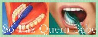 Como escovar as superfícies internas dos dentes de trás.