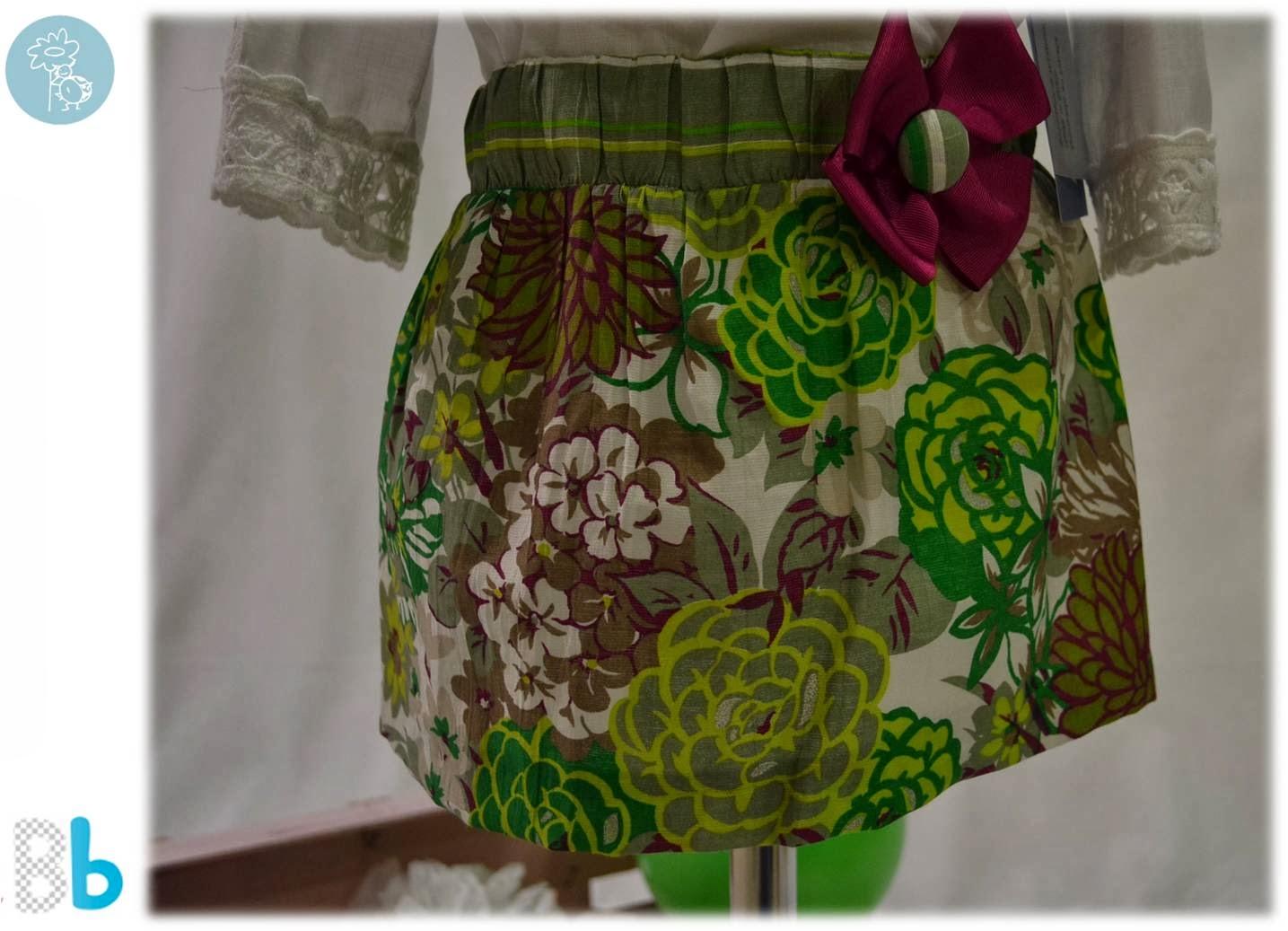 Babiné -Colección Primavera-Verano- Detalle falda conjunto falda