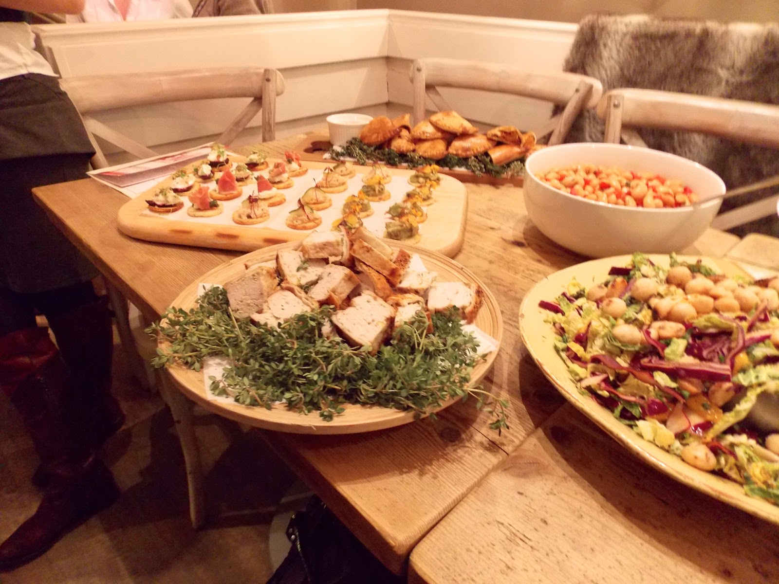 A picture of lovely salads and canapes at Filmore & Union in York
