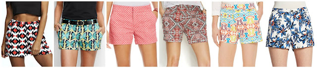 """Boohoo Heather Woven Geometric Print Shorts $16.00  Lands' End Fit 1 3"""" Dobby Print Shorts $21.99 (regular $49.00)  American Living Printed Shorts $22.99 (regular $46.50)  INC Printed Shorts $26.99 (regular $49.50) more print options here, here and here  Tommy Hilfiger Ikat Print Hollywood Short $29.99 (regular $49.50)  5/48 Floral Print Shorts $44.99 (regular $168.00)"""