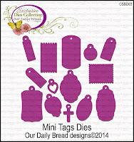 Our Daily Bread designs Custom Mini Tags Dies