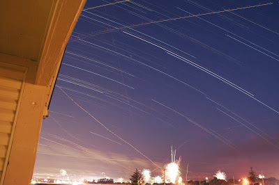 star trails over indiana
