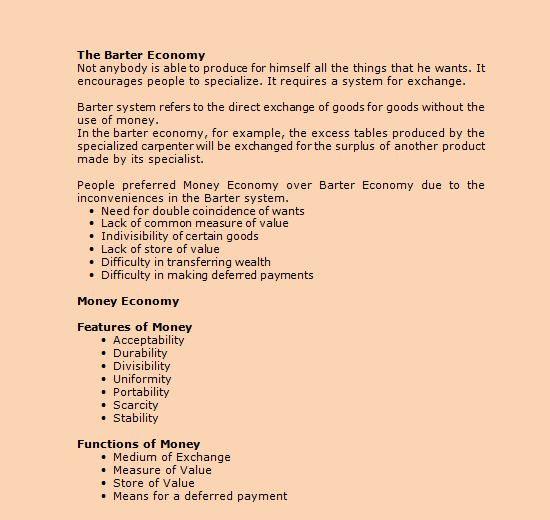 economics questions the barter system Native american trade routes and the barter economy - this lesson plan is great for teaching kids at the middle school level about both the history of native american tribes and the nature of the barter system, blending concepts into one plan.