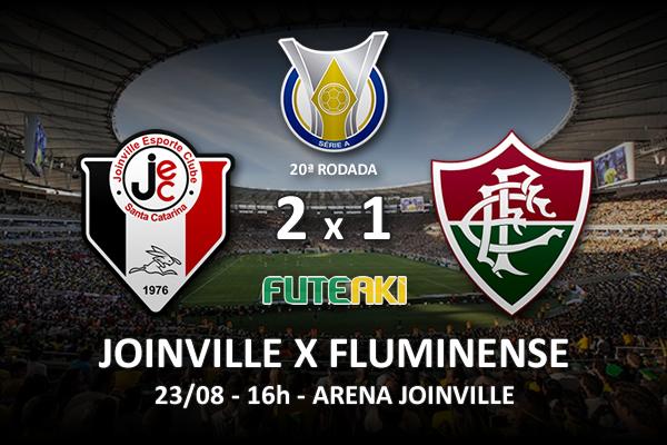 Veja o resumo da partida com os gols e os melhores momentos de Joinville 2x1 Fluminense pela 20ª rodada do Brasileirão 2015