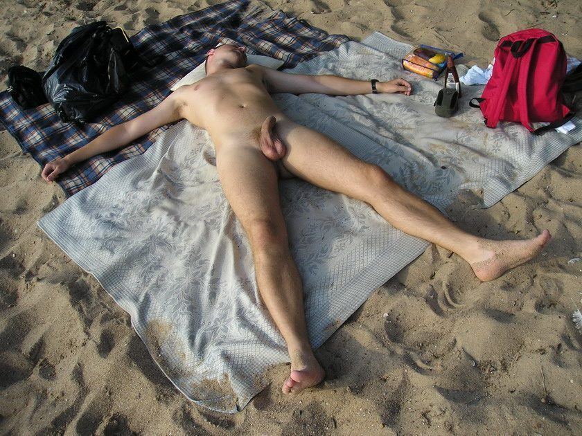 Naked Men Sunbathing Nude