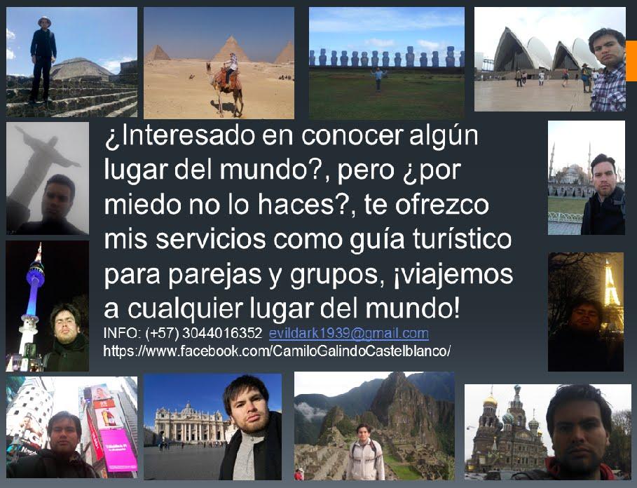 Experiencias viajeras de Camilo Galindo para el Mundo
