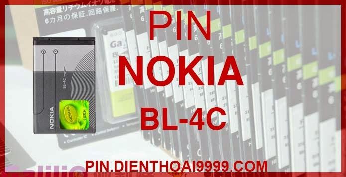 Pin nokia BL- 4C  - Pin nokia BL- 4C chính hãng / Pin nokia BL- 4C Galilio dung lượng cao. - Giá: 150k (chính hãng) / 140k (dung lượng cao) - Bảo hành: 6 tháng  - Pin tương thích với Nokia  1202/ 1265/ 1325/ 1508/ 1661/ 2220s/ 2228/ 2650/ 2652/ 2690/ 3108/ 3500c/ 6066/ 6088/ 6100/ 6101/ 6102/ 6103/ 6131/ 6125/ 6136S/ 6170/ 6260/ 6300/ 6301/ 7705 Twist/ 7200/ 7270/ X2  Thông số kĩ thuật: - Pin nokia BL- 4B được thiết kế kiểu dáng và kích thước y như pin nguyên bản theo máy, Pin tiêu chuẩn, chất lượng như pin theo máy. - Kích thước:  46 mm x 34 mm x 4.3 mm - Dung lượng: 700 mah (chính hãng), 1200 mah (dung lượng cao) - Điện thế: 3.7V - Công nghệ: Pin Li-ion Battery