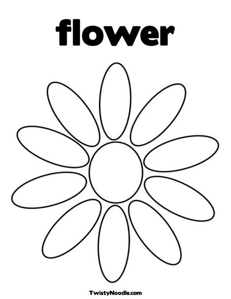 coloring pages flower petals - photo#1