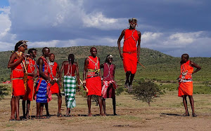 Maasai Worriors Jumping