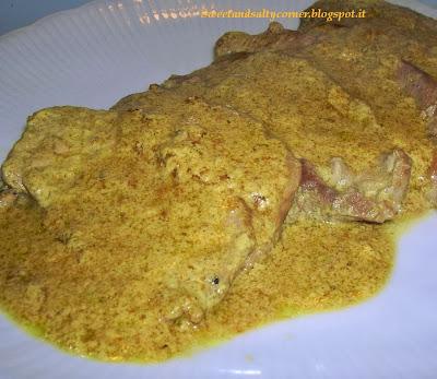 fettine con salsa al curry