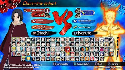 Pemilihan Character NS Ultimate Ninja Storm 3