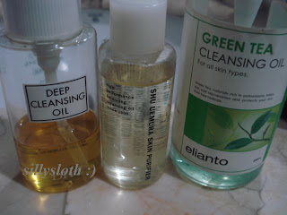 DHC, Shu Uemura and Elianto Cleansing Oil