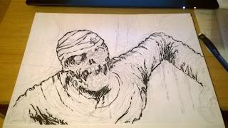 mummy ink sketch