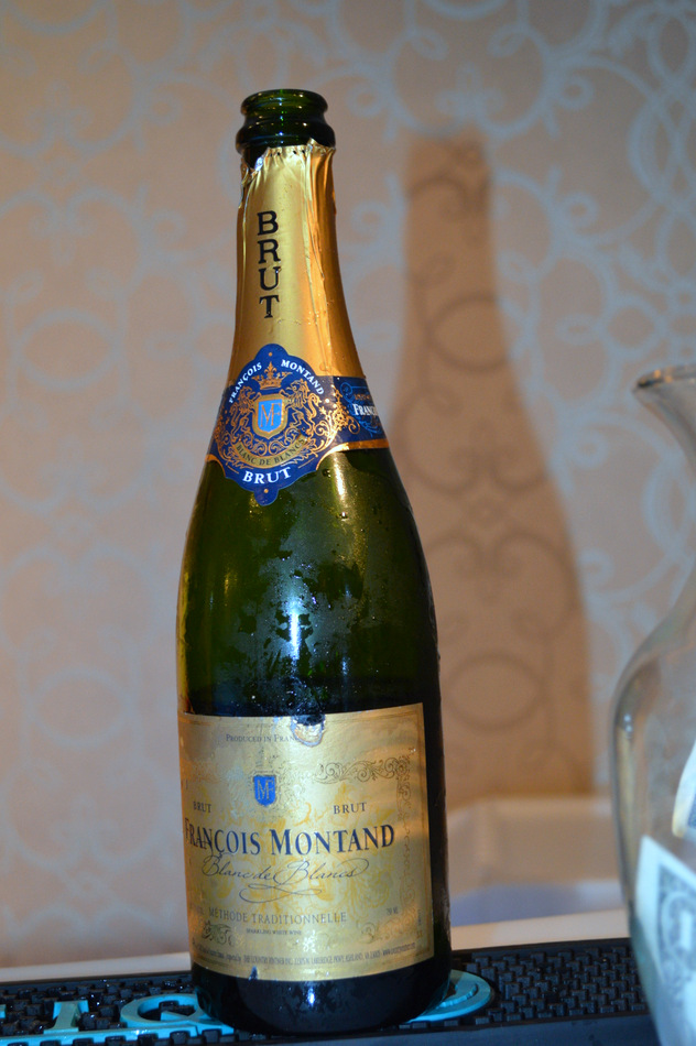 brut champagne bottle