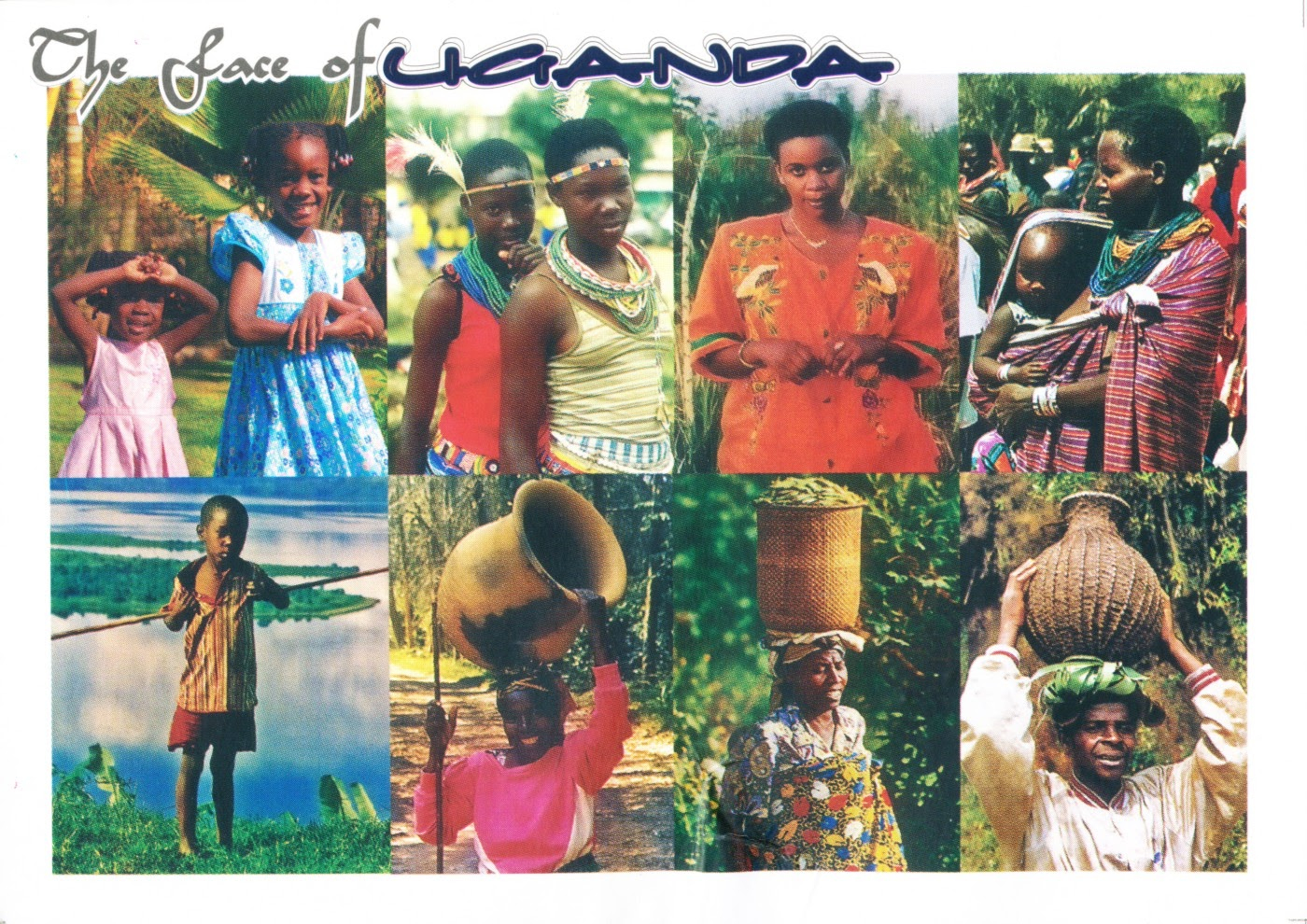 uganda, postcard, people