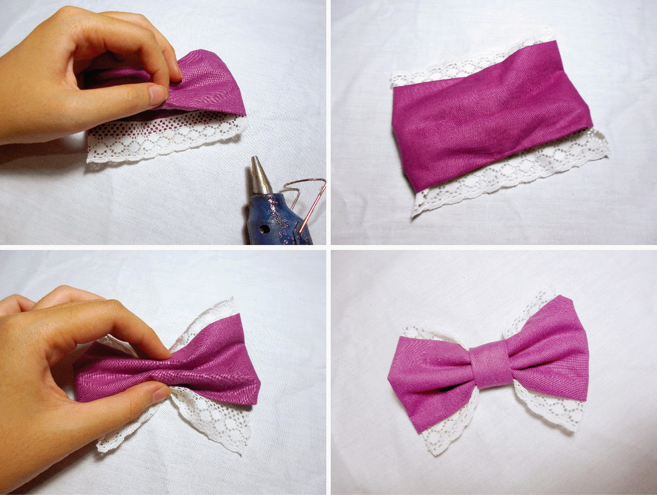 Diy 5 bow ideas for those of you who obsessed with bows diy hair bows lace bow tutorial baditri Image collections