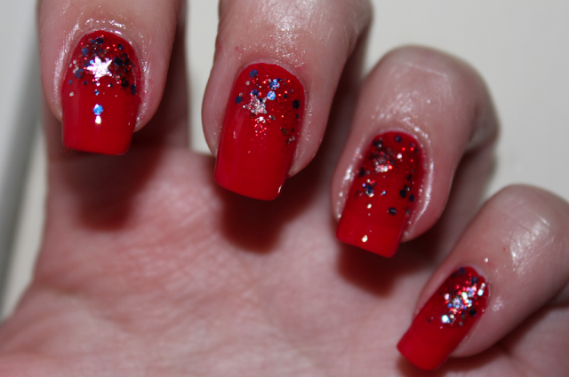 Julep America OPI Color So Hot It Berns glitter fourth of july 4th of july nails nail polish