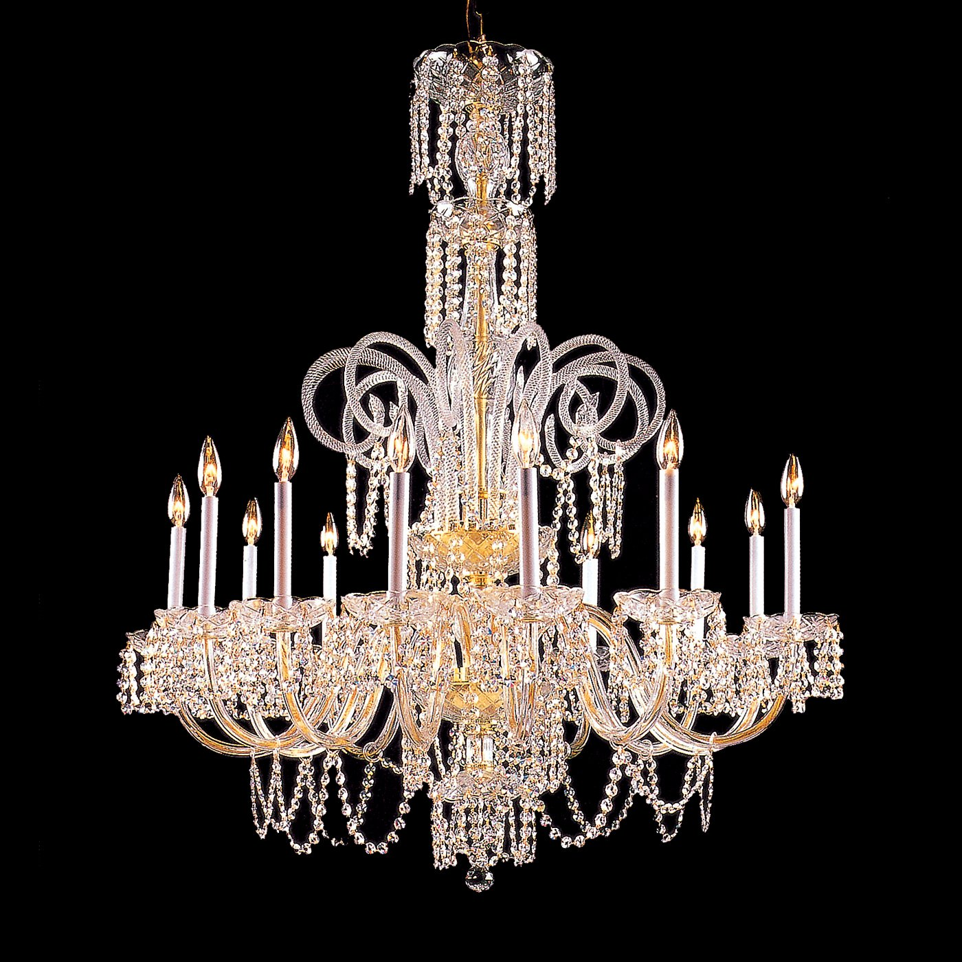 Chandelier on pinterest crystal chandeliers chandeliers and murano glass - Crystal chandelier for dining room ...