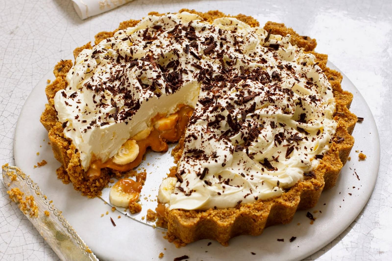 Песочный пирог с бананами рецепт