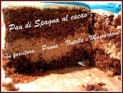 pan di spagna al cacao con farcitura panna/nutella/mascarpone