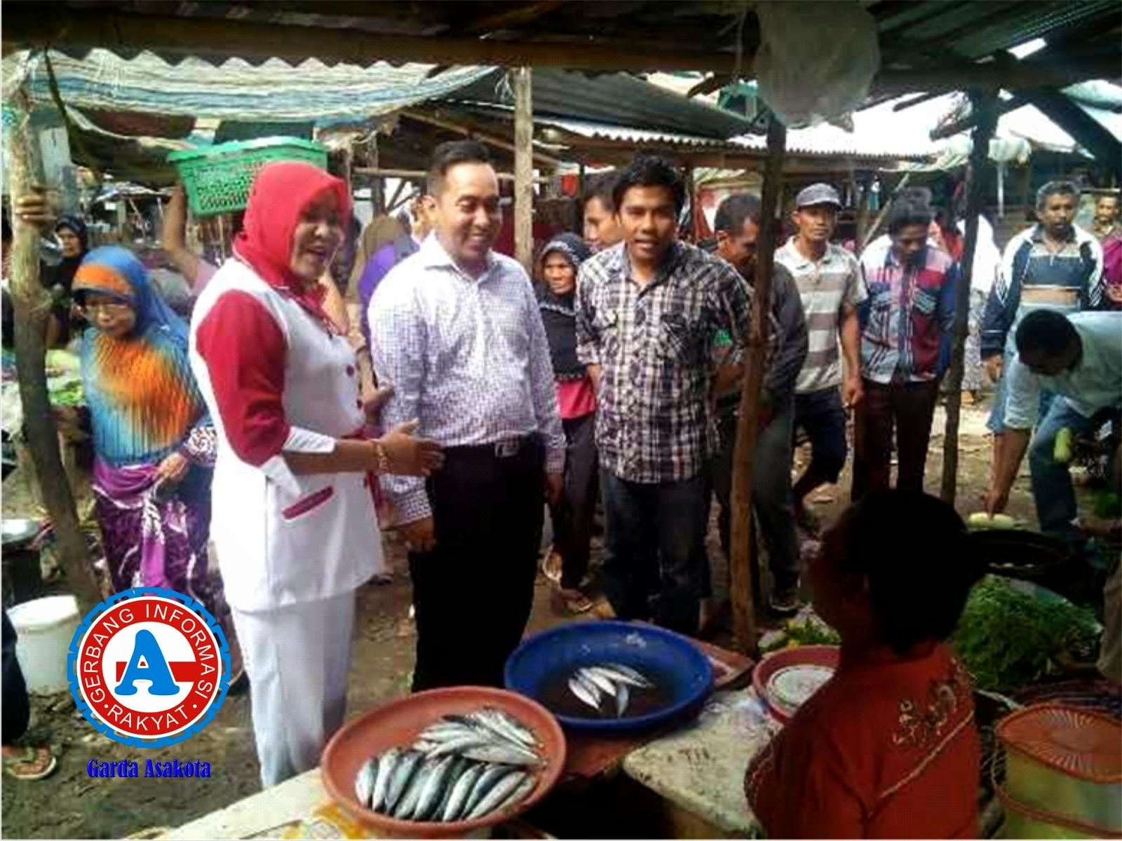 Mori Hanafi Blusukan ke  Pasar Tente dan Pasar Bolo