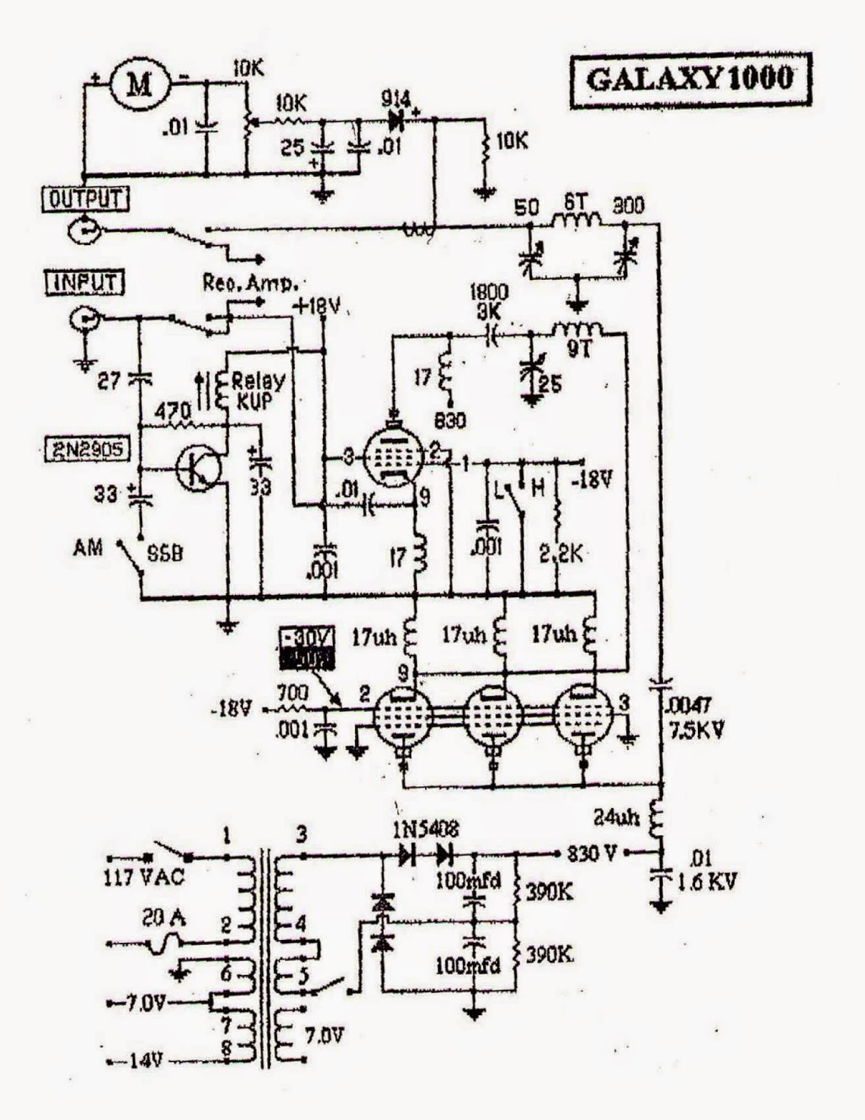 91nr712  27mhz cb linear amplifier
