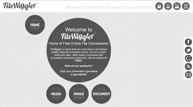 Filewiggler Online File Converter இணையதளம்