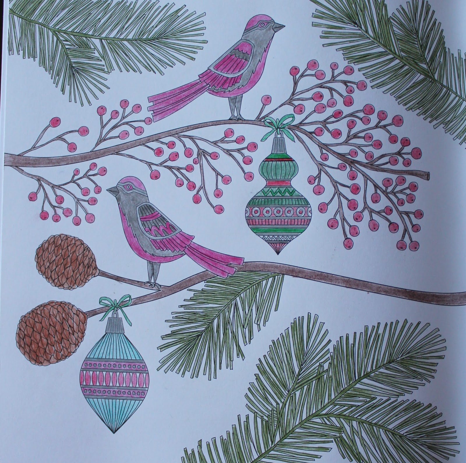 a little bit of everything christmas colouring