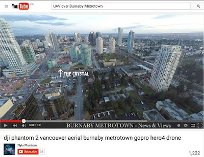 DJI Phantom 2 over Burnaby Metrotown - Feb. 2015