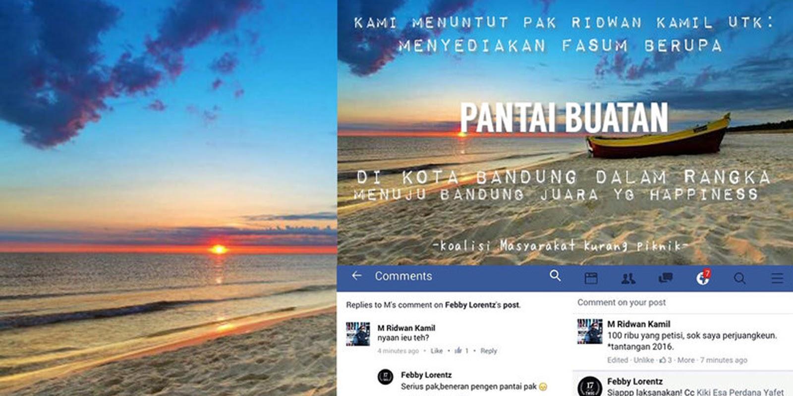 Petisi Pantai Buatan Di Bandung Oleh Koalisi Masyarakat Kurang