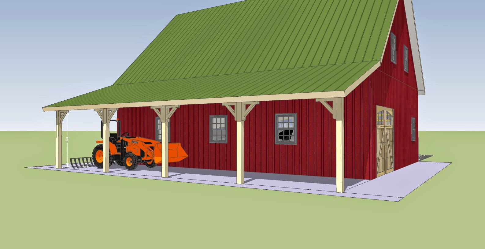 Know whey a barn in vermont for Garage overhang