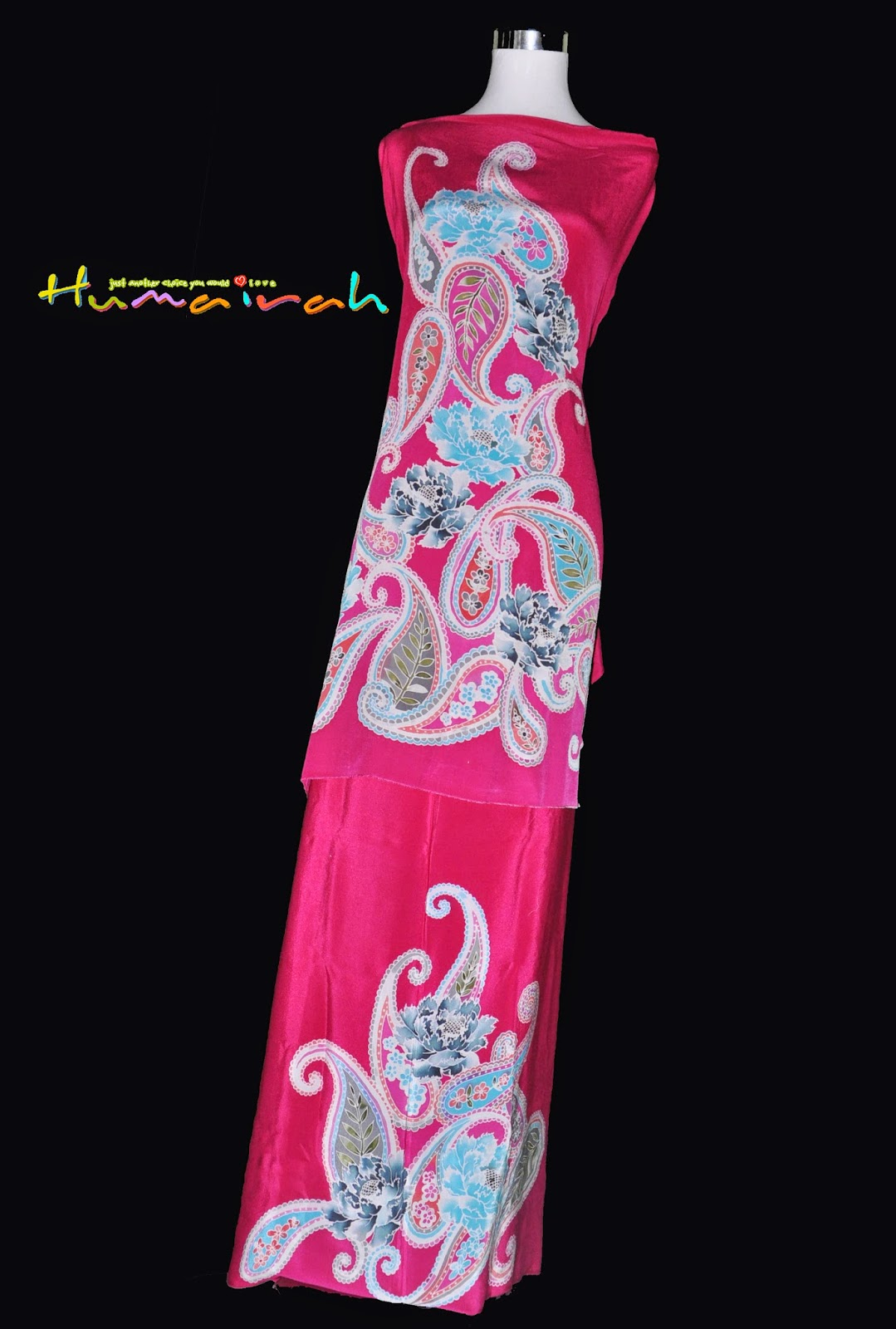 Batik Sutera Handmade Exclusive Paisley Pink 21