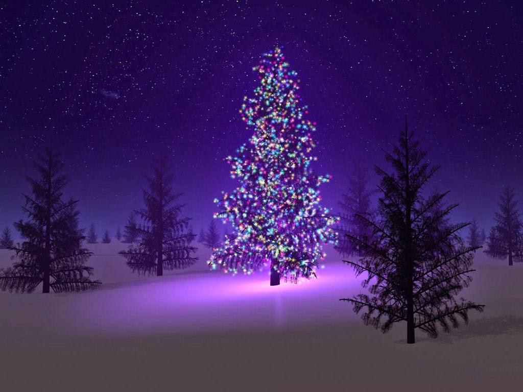 tall christmas tree wallpaper