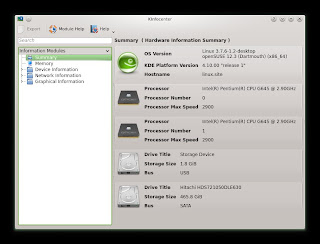 openSUSE 12.3 DARTMOUTH KDE RC1 KInfocenter