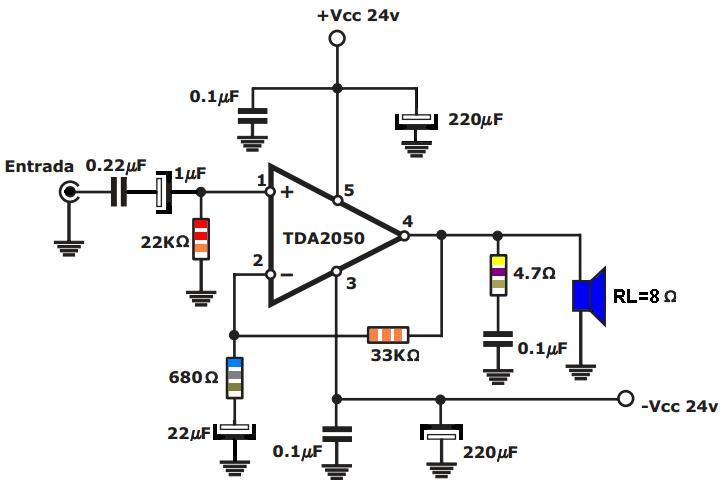 Circuito Amplificador : Amplificadores de audio amplificador w con el tda