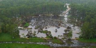 Sinkhole di Negara Bagian Louisiana, Amerika Serikat