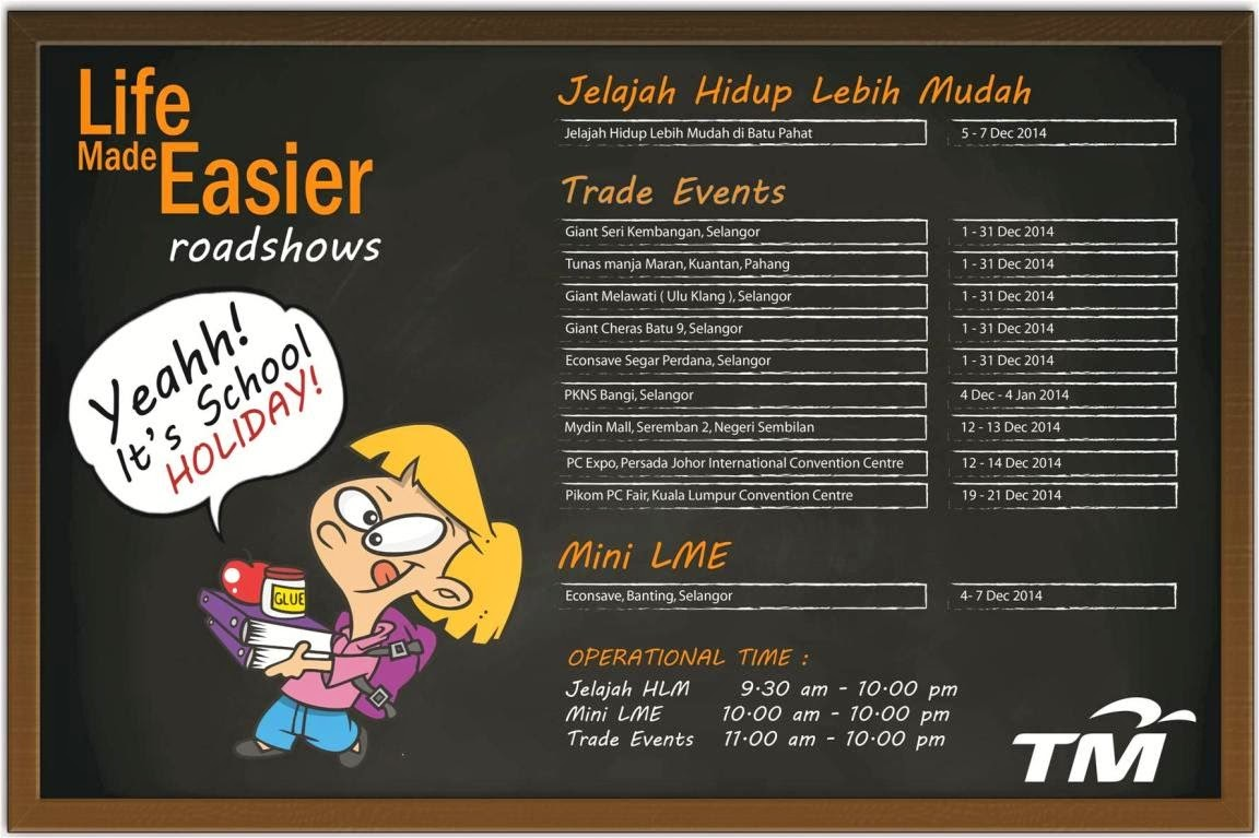 Temui Kami di 'Roadshow Life Made Easier' TM Disember 2014
