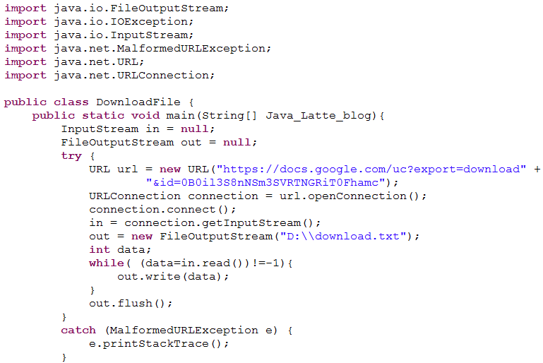 download file from url java