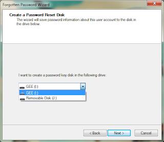 Membuat Password Reset Disk di Windows 7